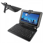 7 inch Universal Tablet PC Leather Case with USB Plastic Keyboard(Black)