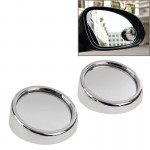 2 PCS 3R11 Car Rear View Mirror Wide Angle Mirror Side Mirror, 360 Degree Rotation Adjustable(Silver)