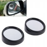 2 PCS 3R11 Car Rear View Mirror Wide Angle Mirror Side Mirror, 360 Degree Rotation Adjustable