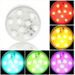 9 LED Multi Color Light with Remote Control(White)