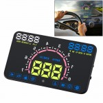 E350 5.8 inch Car HUD / OBD2 Vehicle-mounted Gator Automotive Head Up Display Security System with Multi-color LED, Support Car
