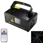 DM-RGB400 18W LED Single Beam Laser Projector with Remote Controller, Auto Run / Sound Control Modes, AC 100-240V (Red Light + B