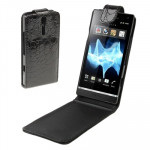High Quality Crocodile Texture Leather Case for Sony Xperia S / LT26i(Black)