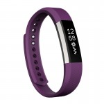 For Fitbit Alta Watch Oblique Texture Silicone Watchband, Small Size, Length: about 18.5cm(Purple)