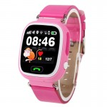 OBTNL B11 GSM GPRS GPS Locator Anti-Lost Smart Watch Tracker for iOS / Android(Pink)