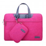 Sacoche pour ordinateur portable Magenta MacBook, Lenovo et autres ordinateurs portables, Taille interne: 31.0x21.5x3.0cm 13.3 pouces Business Series Exquisite Zipper Handheld Laptop Bag avec bloc d'alimentation indépendant