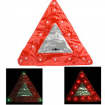 15 LED Triangle Emergency Car Warning Safety Traffic Sign Red(Red)
