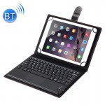 Universal Bluetooth V3.0 Keyboard Detachable Litchi Texture PU Leather Case with Touchpad for 9.7-10.1 inch Tablet PC(Black)