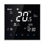 BAC-2000 Central Air Conditioning Type Touch LCD Digital 2-pipe Fan Coil Unit Room Thermostat, Display Fan Speed / Clock / Tempe