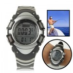 Digital Fishing Barometer Watch with Thermometer / Altimeter / Weather Forecast / Pressure Trend Chart Display / 30m Waterproof