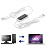 Switch-To-MAC USB 2.0 Transfer Kit Data Link Cable, MAC to PC / PC to PC / MAC to MAC File Transfer Share, Length: 165cm