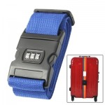 Blue Adjustable Packing Band Belt Strap with Password Lock for Luggage Baggage(Blue)