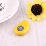 For Android 4.2.2 or Newer and IOS 6.0 or Newer Bluetooth Photo Remote Shutter for Smartphone(Yellow)