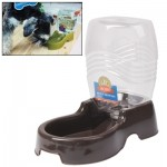 Utility Automatic Drinking Water Dispenser Detachable Bottle with Dish Feeder for Cats and Dogs