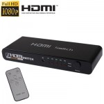 5 Ports Full HD 1080P HDMI Switch with Switch & Remote Controller, 1.3 Version (5 Ports HDMI Input, 1 Port HDMI Output)