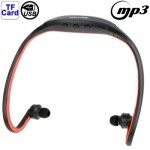 Sport MP3 Player Headset with TF Card Reader Function, Music Format: MP3 / WMA / WAV(Red)