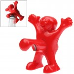 Creative Happy Man Style ABS + Stainless Steel Bottle Opener