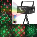 2-color Holographic Anime Laser Stage Lighting Fireworks Projector with Remote Control & Dynamic Liquid Sky, Support Sound Activ