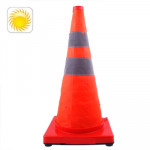3-LED Solar Lift Traffic Safety Warning Road Cones, Height: 56cm