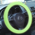 Silicone Rubber Car Steering Wheel Cover, Outside Diameter: 36cm(Green)