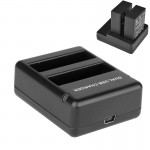 USB Dual Battery Travel Charger for GoPro Hero 4 (AHDBT-401)(Black)