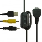 Digital Camera USB + AV Data Cable for SONY W50,W220, Lenght:1.35m