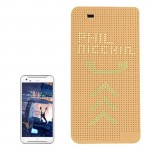 For HTC One X9 Smart Horizontal Flip Dot View Case with Sleep and Wake-up Function(Gold)