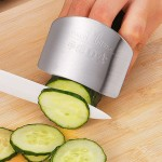 Creative Kitchen Necessary Food Vegetable Cutting Stainless Steel Hand Finger Guard Protector