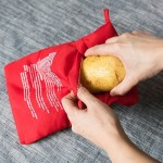 Washable Reusable Microwave Potato Cooker Bag (Cooks Up to 4 Potatoes At Once), Size: 26.7*17.6cm(Red)