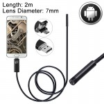 2 in 1 Micro USB & USB Endoscope Waterproof Snake Tube Inspection Camera with 6 LED for Newest OTG Android Phone, Length: 2m, Le
