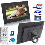 7012B Black, 7 inch Digital Picture Frame with Holder & Remote Control Support SD / MMC / MS Card and USB(Black)