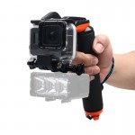 Shutter Trigger + Floating Hand Grip Diving Buoyancy Stick with Adjustable Anti-lost Strap & Screw & Wrench for GoPro HERO5 Blac