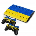 Ukrainian Flag Pattern Decal Stickers for PS3 Game Console