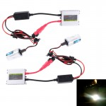 DC12V 35W 2x H1 HID Slim Xenon Light, High Intensity Discharge Lamp, Color Temperature: 4300K