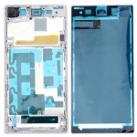 iPartsBuy Front Housing LCD Frame Bezel Plate Replacement for Sony Xperia Z1 / C6902 / L39h / C6903 / C6906 / C6943(White)