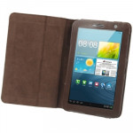 Leather Case with Holder for Samsung Galaxy Tab 2 (7.0) / P3100 (Brown)