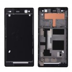 iPartsBuy Front Housing Replacement with Adhesive Sticker for Sony Xperia C3(Black)