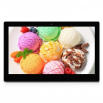 21.5 Black , 21.5 inch Full HD 1080P Digital Picture Frame with Holder & Remote Control Support SD / MMC / MS Card and USB(Black