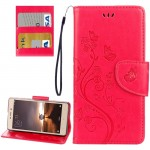 Xiaomi Redmi 3 Pro / 3s Butterflies Love Flowers Embossing Horizontal Flip Leather Case with Holder & Card Slots & Wallet & Lany