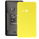 iPartsBuy for Nokia Lumia 625 Original Housing Battery Back Cover with Side Button(Yellow)