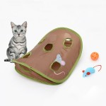 Funny Cat Toy Mouse Hole Stick With Bells Grasping Interactive Mouse Hunt Cat Toys