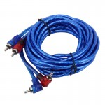 4.5m Car Auto PU Wrapped Audio Stereo Cable OFC 2RCA to 2RCA Jack Audio Cable Male to Male RCA Aux Cable