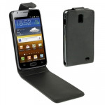 Vertical Flip Leather Case for Samsung Galaxy SII ITE / i9210 (Black)