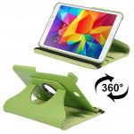 360 Degree Rotatable Litchi Texture Leather Case with 2-angle Viewing Holder for Samsung Galaxy Tab 4 8.0 / SM-T330(Green)
