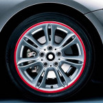 15 inch Wheel Hub Reflective Sticker for Luxury Car(Red)