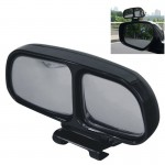 Left Side Rear View Blind Spot Mirror Universal adjustable Wide Angle Auxiliary Mirror(Black)