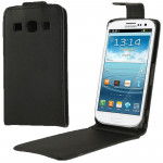 Vertical Flip Leather Case for Galaxy Trend 3 / G3502 (Black)
