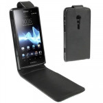 Vertical Flip Holster for Sony Xperia ion LT28i (Black)