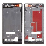 iPartsBuy Front Housing Screen Frame Bezel for Huawei Ascend P7(Black)