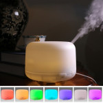 Humidificateur d'Air blanc Diffuseur d'arome à ultrasons avec lumières LED colorées US Plug - Wewoo